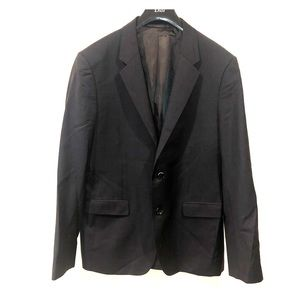 Theory men's suit top navy blue pinstripes size 42